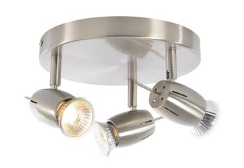 Pluto 3 Light Plate Spotlight 105W - Satin Nickel