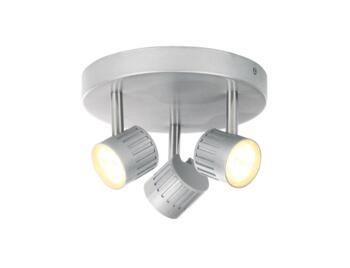 Warwick 3 Light Plate Spotlight 12W - Silver