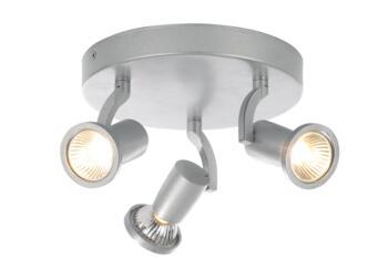 Wolsey 3 Light Plate Spotlight 105W - Silver