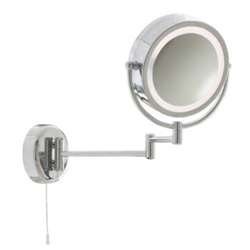 Chrome Swing Arm Magnifying Mirror - Chrome/Mirrored Glass