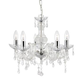 Marie Therese 5 Light Acrylic Fitting - Clear  - Acrylic Clear