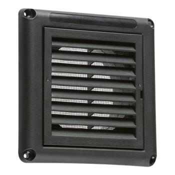 "Black Fixed Extractor Fan Grill - 4"" 100mm"