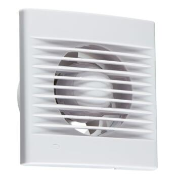 """White Bathroom / Toilet Extractor Fan 4"""" 100mm - With overrun timer"""