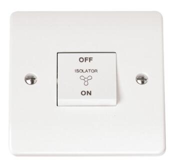 Mode 3 Pole 10A Fan Isolator Switch - Fused or Unfused - Unfused