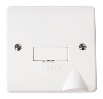 Mode 13A DP Unswitched Fused Spur - White