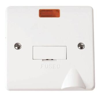 Mode 13A DP Unswitched Fused Spur with Neon - White