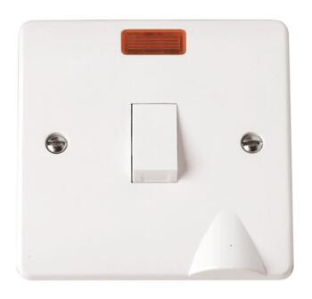 Mode 20A DP Switch - Optional Flex Out with Neon - White