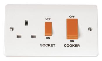 Mode 45A DP Cooker Control Unit - White