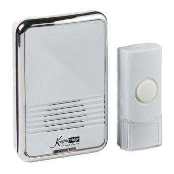 Wireless Plug In Door Chime - White (80m Range)