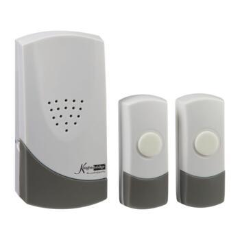 Wireless Dual Entrance Door Chime Kit - White (100m Range)