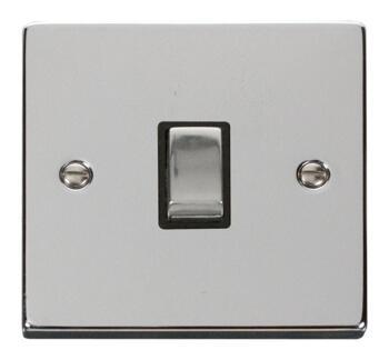 Polished Chrome 20A DP Switch - No Flex Out Ingot - With Black Interior