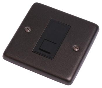 Graphite RJ45 Data Network Outlet -  Single - With Black Interior