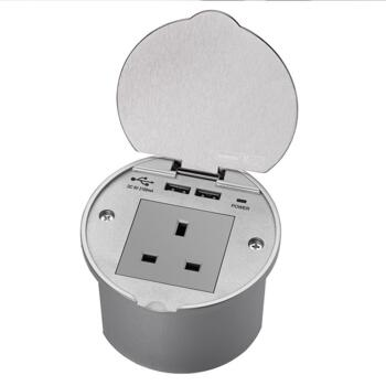Countertop Usb : ... Recessed Wall/Worktop Kitchen Socket With USB - Stainless Steel