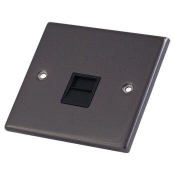 Black Nickel Phone Socket - Secondary / Slave
