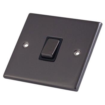 Black Nickel 20A DP Isolator Switch - Without Neon