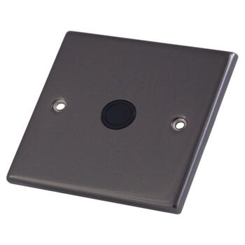 Black Nickel 20A Flex Outlet Connection Plate - 1 Gang Single