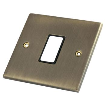 Antique Brass Build Your Own Light Switch - 1 Gang