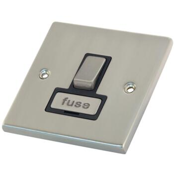 Satin Chrome 13A Fused Spur Connection Unit - Switched