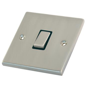 Satin Chrome 20A DP Isolator Switch - Without Neon