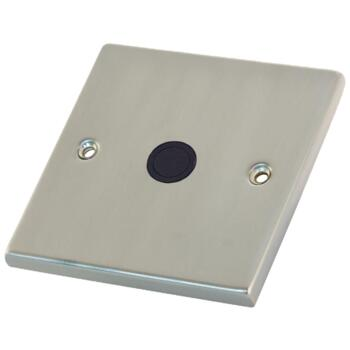 Satin Chrome 20A Flex Outlet Connection Plate - 1 Gang Single