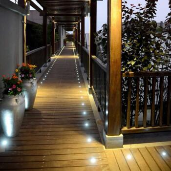 LED Individual Decking / Plinth Light 240v - 40mm Round Cool White