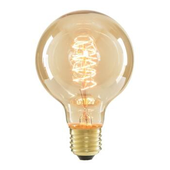 40w Vintage Filament Light Bulb G80  - ES E27 Tinted