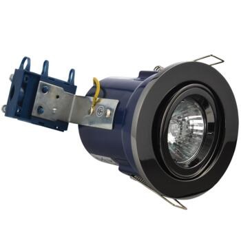 Black Nickel Fire Rated Downlight Adjustable GU10 - Adjustable GU10 Fitting
