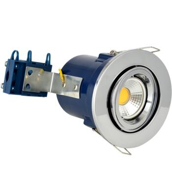 Chrome Fire Rated Downlight Adjustable GU10 - Adjustable GU10 Fitting