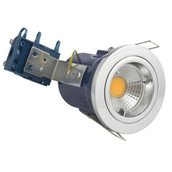 Chrome Fire Rated Downlight Fixed GU10 - Fixed GU10 Fitting