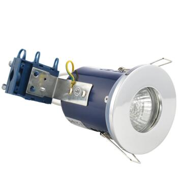 Chrome Fire Rated Downlight IP65 GU10 - Fitting Only