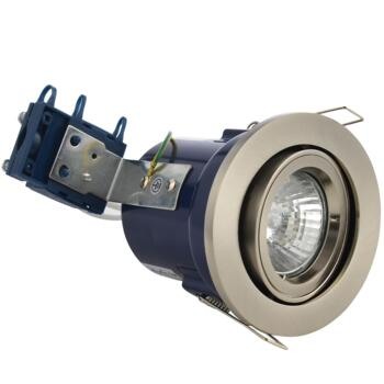 Satin Chrome Fire Rated Downlight Adjustable GU10  - Adjustable GU10 Fitting