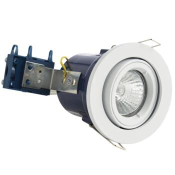White Fire Rated Downlight Adjustable GU10 - Adjustable GU10 Fitting