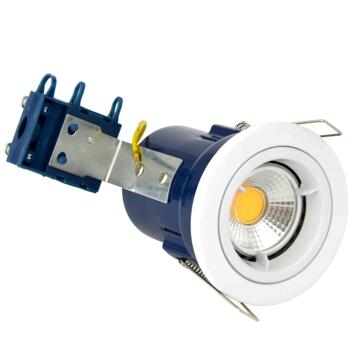 White Fire Rated Downlight Fixed GU10  - Fixed GU10 Fitting