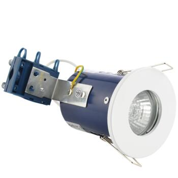 White Fire Rated Downlight IP65 GU10 - Fitting Only