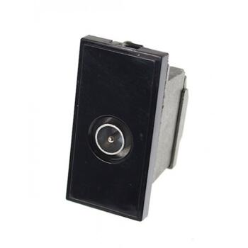 Euro Data Module TV Coax Socket  - Male Black