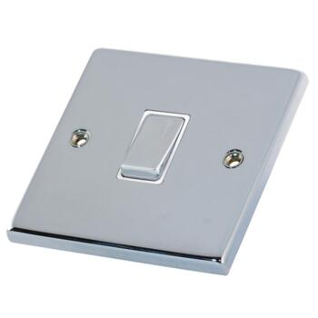 Polished Chrome 20A DP Isolator Switch  - Without Neon