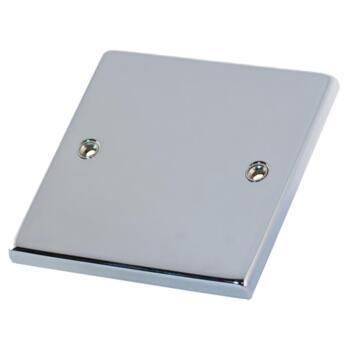 Polished Chrome Blank Plate  - 1 Gang Single