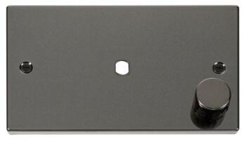 Dimmer Mounting Plate Unfurnished 2 Gang Single - Black Nickel