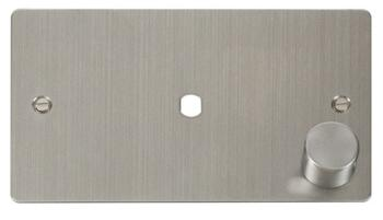 Flat Plate Dimmer Mounting Plate Unfurnished 1 Mod - Stainless Steel