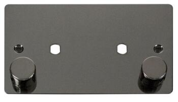 Flat Plate Dimmer Mounting Plate Unfurnished 2 Mod - Black Nickel