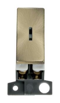 Mini Grid 'Ingot' 2 Way 10AX Keyswitch Module - Antique Brass