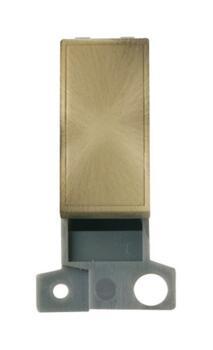 Mini Grid Blank Ingot Module - Single Width - Antique Brass