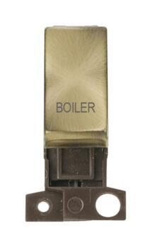 Mini Grid Antique Brass 13A/10AX DP Ingot Switch - Boiler