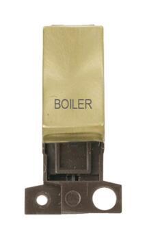 Mini Grid Satin Brass 13A/10AX DP Ingot Switch - Boiler