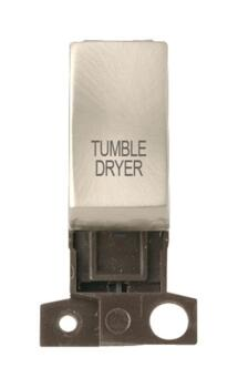 Mini Grid Satin Chrome 13A/10AX DP Ingot Switch - Tumble Dryer