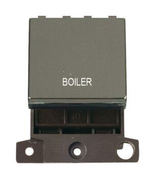 Mini Grid Black Nickel 20A DP Ingot Switch Module - Boiler