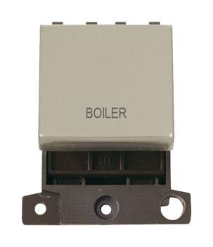 Mini Grid Pearl Nickel 20A DP Ingot Switch Module - Boiler