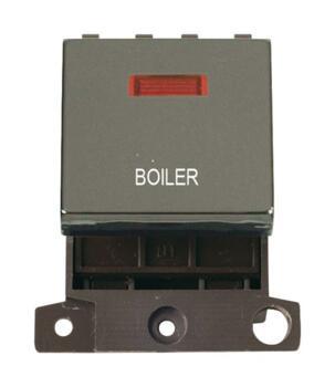 Mini Grid Black Nickel 20A DP Ingot Switch Neon - Boiler