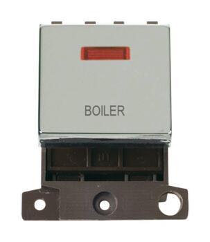 Mini Grid Polished Chrome 20A DP Ingot Switch Neon - Boiler