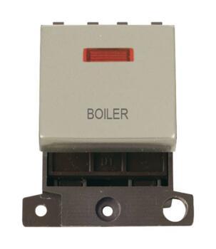 Mini Grid Pearl Nickel 20A DP Ingot Switch Neon - Boiler